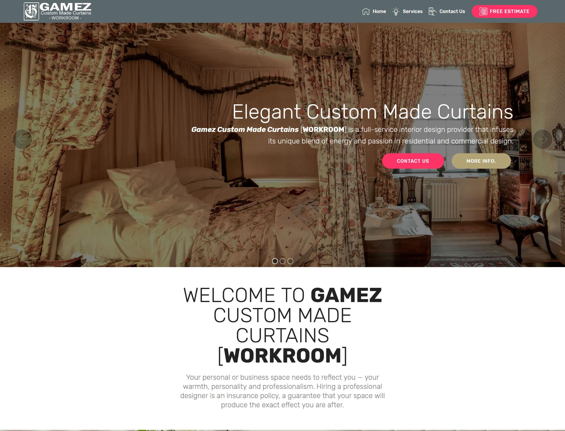 Bay area Custom Made Curtains Gamez Custom Curtains