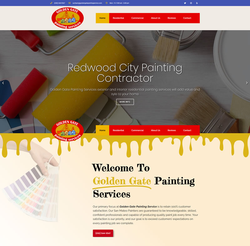 Home Golden Gate Painting Service Painting Contractor in Redwood City