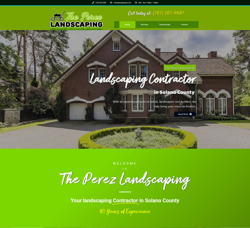 Home The Perez Landscaping Landscaping Services in Vacaville