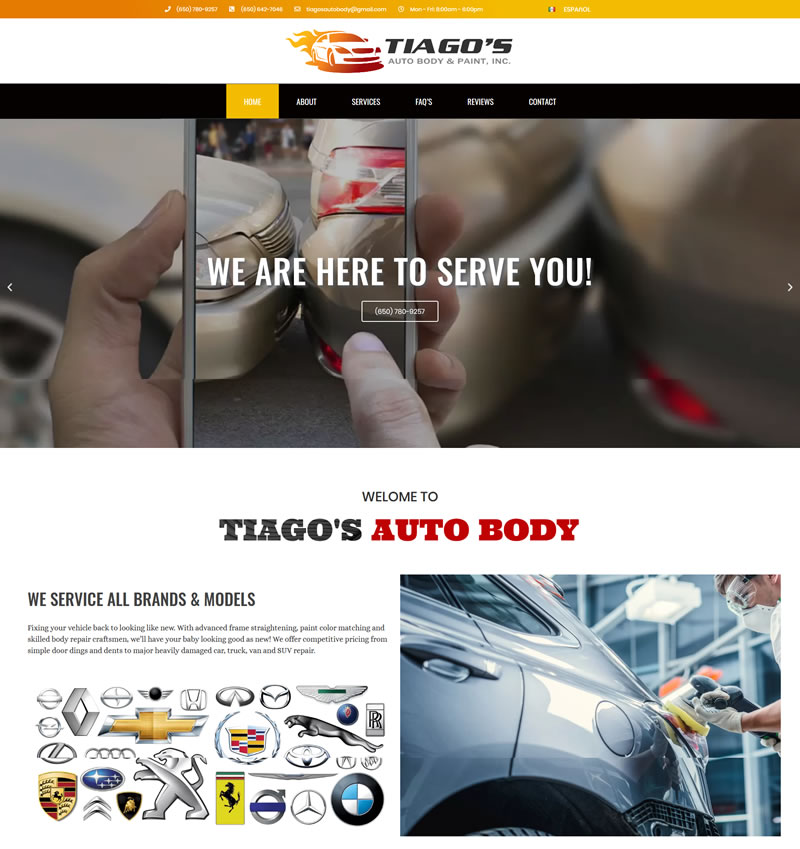 Home Tiagos Auto Body Shop in Redwood City 650 780 9257