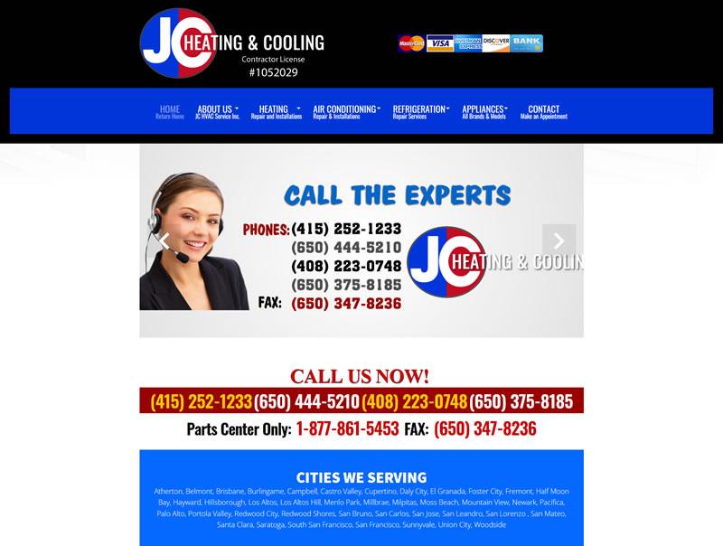 JC HVAC Service Inc. San Mateo HVAC Contractor JC Refrigeration HVAC Service Inc.